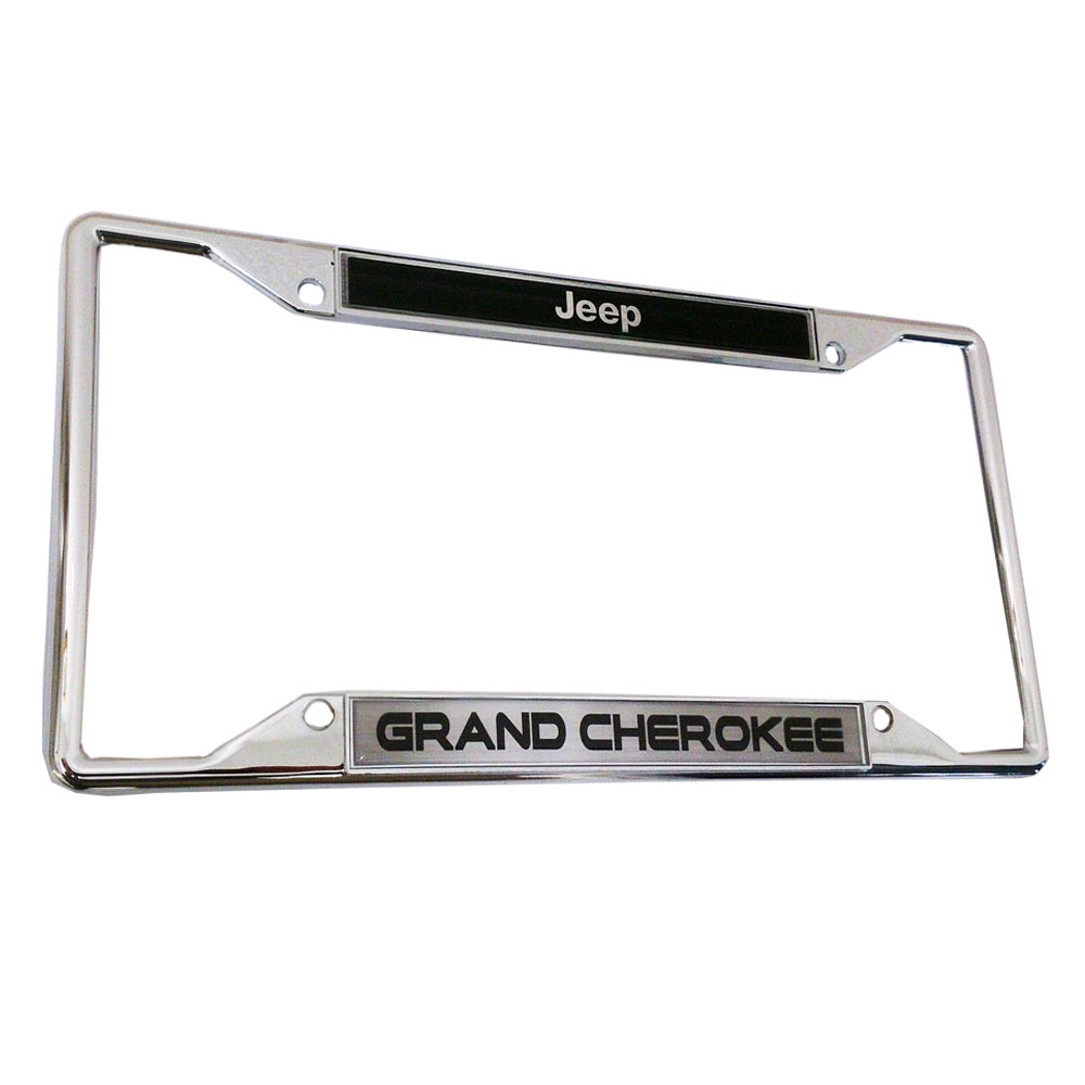 cherokee licensed 3d raised letters zinc chrome license plate frame. Cars Review. Best American Auto & Cars Review