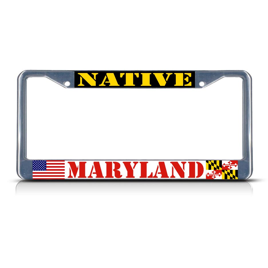 Maryland Native Plants: MARYLAND NATIVE Chrome Heavy Duty Metal License Plate