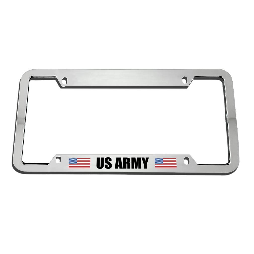 Us Army Zinc Metal License Plate Frame Car Auto Tag Holder